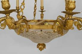 adorable late 19th french empire style gilt bronze and crystal chandelier vintage chandeliers for century restoration