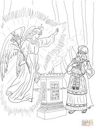 Angel Visits Zechariah Coloring Page Free Printable Coloring Pages