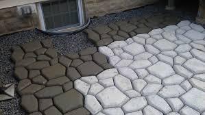 Making Cement Forms Diy Massive Concrete Cobblestone Patio Diy Barrel Stove Outdoor