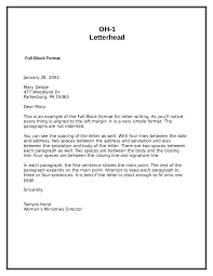 Example Of Full Block Letter With Letterhead