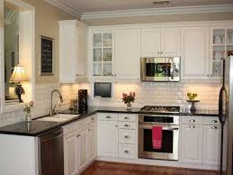 23 Backsplash Ideas White Cabinets Dark Countertops Kitchen Within