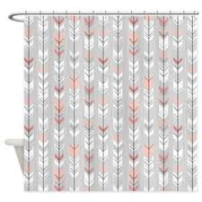 pink grey shower curtain. peach colored shower curtain for goodly best curtains pink with grey products on wanelo unique pictures e