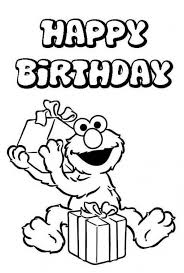 Small Picture Happy Birthday from Elmo sesame street coloring picture Fun