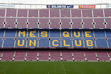 More than a club because without forgetting our roots in barcelona and our catalan identity and culture, we have always been open to the world, and have become a meeting point for different people, cultures and nations. Fc Barcelona Wikipedia
