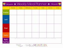 Meal Plan Calendar Template Elegant 21 Day Fix Blank