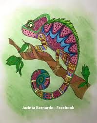 Small Picture Finished Coloring Page Cameleon Finished Coloring Pages