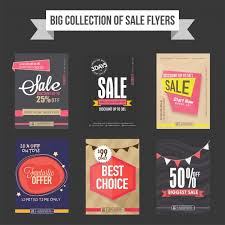 Free For Sale Flyer Template Sale Flyers Templates And Banners Collection Vector Free