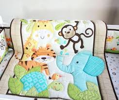 monkey crib bedding sets whole hot ing cotton baby bedding set embroidery tiger monkey bird cot