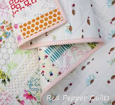 Red Pepper Quilts: A Baby Quilt - Not Quite Low Volume & For the back of the quilt I have used a cute print from the Little Apples  collection by Aneela Hoey (Tortoises). It's rather the perfect fabric for a  baby ... Adamdwight.com