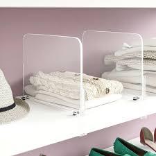 closet shelf organizer acrylic shelf dividers closet shelves organizer separator 6 shelf closet organizer with 2