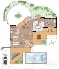 plan habillé rdc maison maison d architecte 1