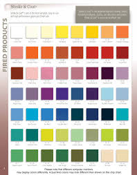 Glaze Color Chart Stroke And Coat Color Chart Glazed Tiles Ceramics Pottery