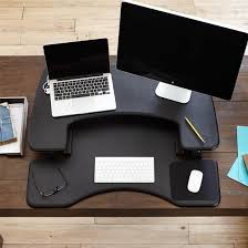 varidesk pro plus 36 sit stand desk converter black