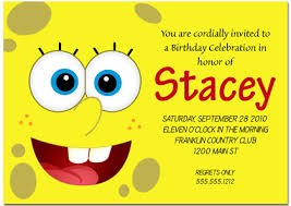 a birthday invitation spongebob inspired birthday invitations
