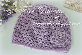 Baby Hat Crochet Pattern Delectable Lacy Crochet Cashmere Crochet Baby Hat Size 48 Months Free Pattern