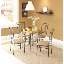 Amazoncom Dining Set Metal Chairs Kitchen Table Furniture Modern