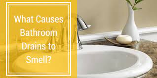 what causes bathroom drains to smell