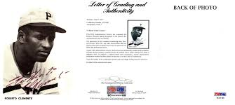 Signed Roberto Clemente Photo 4 X 5 50 Inch Psa Dna Full Letter