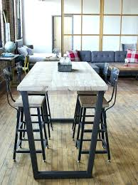 round bar top table high top table legs reclaimed high top table standing height bistro table round bar