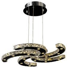 galaxy 30 light led chrome finish crystal chandelier modern
