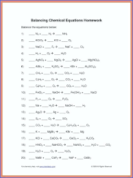 balancing equations practice worksheet answers quiz answer key 8th grade template