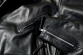 vintage black cowhide leather motorcycle jacket