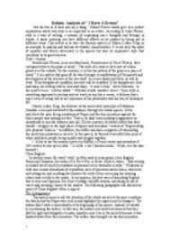 stylistic analysis of martin luther king s i have a dream speech  page 1 zoom in