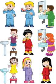 brush teeth clip art kids. Modren Kids Kids Brushing Teeth Collection  Images Isolated On Transparent Background  PNG To Brush Teeth Clip Art N