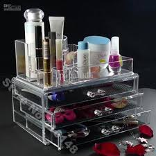 2018 Makeup Organizer Cosmetic Crystal Acrylic Case Display Box Jewelry Big  Size From Papaluda, $37.39 | Dhgate.Com