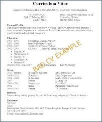Example Of A Curriculum Curriculum Vitae Vs Resume Sample Curriculum ...