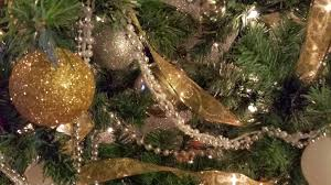 Image result for silver garland on a tree