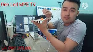 Đại lý đèn led MPE TPHCM - Test ánh sáng đèn Led âm trần viền vàng 3 màu MPE