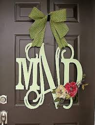 front door monogramWooden DoorWall Monogram Single Initial Matworks  Matworks Ltd