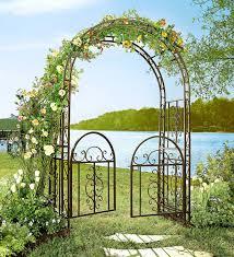 montebello iron garden arbor with gate