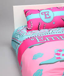 love this blue pink cowgirl personalized duvet set