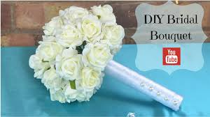 diy bridal bouquet how to create your own bridal wedding flowers bouquet using foam flowers you