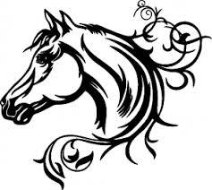 Samolepka Kůň 061 Levá Hlava S Květinou Autosamolepkycz
