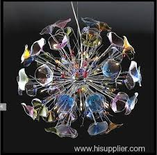 italian modern stained glass round pendant lamps chandeliers decorative lights lighting fixtures