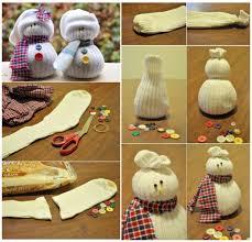 3. Cute Sock Snowmen