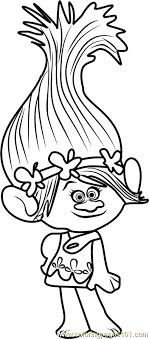 Princess Poppy From Trolls Coloring Page Disegni Disegni Da