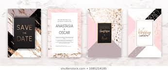 Pink Black Invitation Stock Illustrations Images Vectors