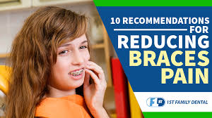 reducing braces pain