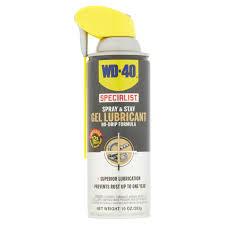 wd 40 specialist spray stay gel lubricant no drip formula com