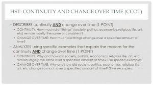 how to write the long essay question ppt  hst continuity and change over time ccot