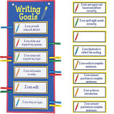 Writing Goals Clip N Track Pocket Chart Primary