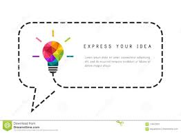 Dotted Line Template Text Frame Template With Lightbulb As Creative Idea Concept Stock