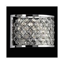 hudson 2wbch 2 light diamond crome crystal wall bracket
