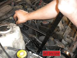 how to install a new belt tensioner pulley for serpentine how to install a new belt tensioner pulley for serpentine belt on plymouth voyager v6 mid 1990 early 2000 years
