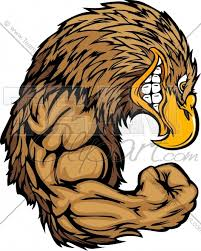 golden eagles mascot. Unique Mascot Golden Eagle Mascot Flexing Arms Cartoon Vector Clipart Image In Eagles