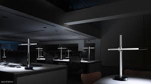 a dark empty office highlighting the high level of illumination csys task light lighting a29 office